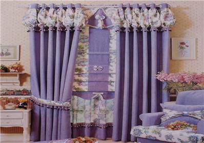 紫色雪尼尔卧室窗帘
