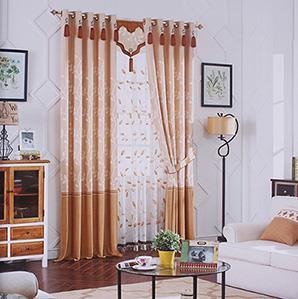 经典咖色卧室窗帘