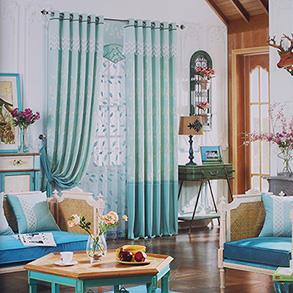 经典棉麻卧室窗帘