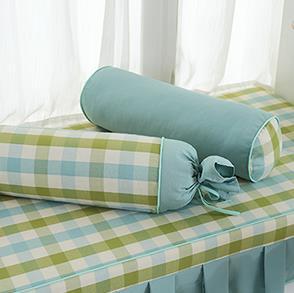 绿色圆柱糖果抱枕