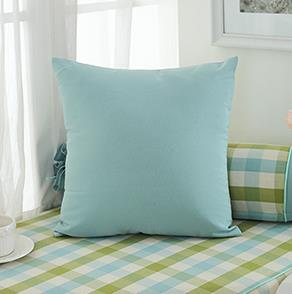 绿色纯色方形抱枕
