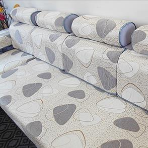 灰色简洁风沙发罩