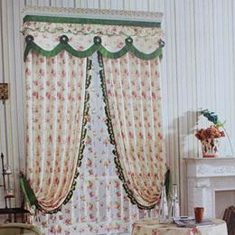 牡丹花朵图案卧室窗帘