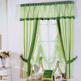 树叶图案卧室窗帘