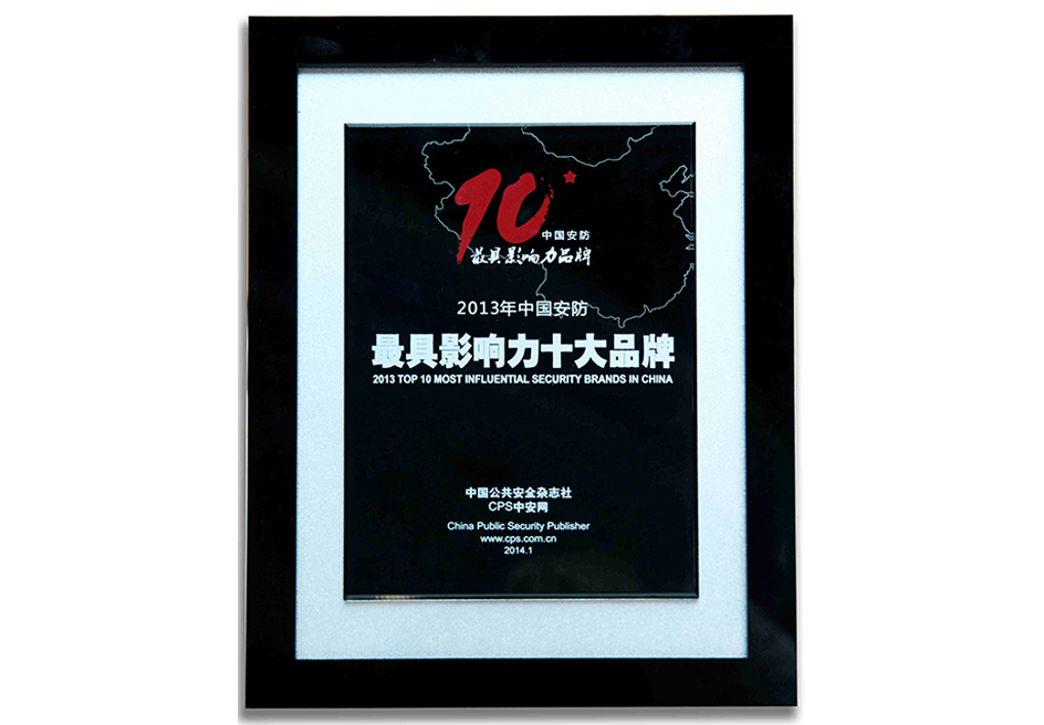 2013中国安防最具影响力十大品牌