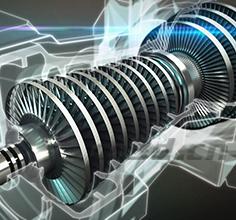 发电涡轮机部件分析