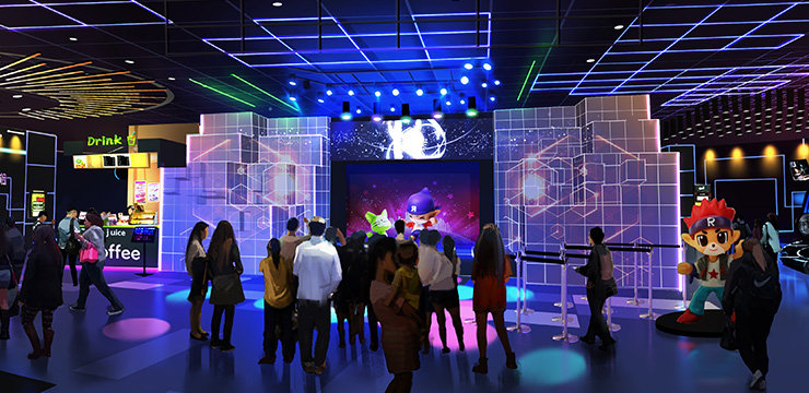 项目形式: 光影秀舞台主要采用全息投影技术与异面投影技术,并配合现场喷雾、激光表演及LED灯光阵列打造的 高科技光影舞台现场。 虚拟偶像通过全息投影出现在舞台现场与舞者热舞不断,而现场舞台效果可根据歌曲及舞蹈风格自由变换 色彩氛围,充满趣味性和观赏性,华丽场景集合灯光效果,让人目不暇接。 项目特点: 全息投影技术与异面投影技术配合现场特技,呈现出一场游客与虚拟偶像一起热舞的舞蹈秀  项目亮点: 1、 丰富的场景变化 2、 现场特技带动游客情绪 3、 虚拟偶像的热情助阵