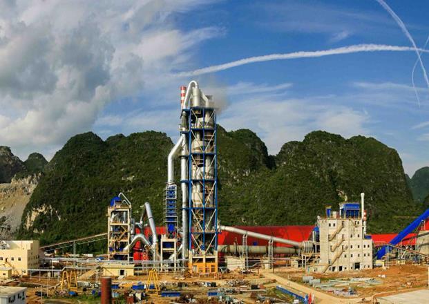 广西都安鱼峰西江水泥有限公司6000t/d水泥生产线