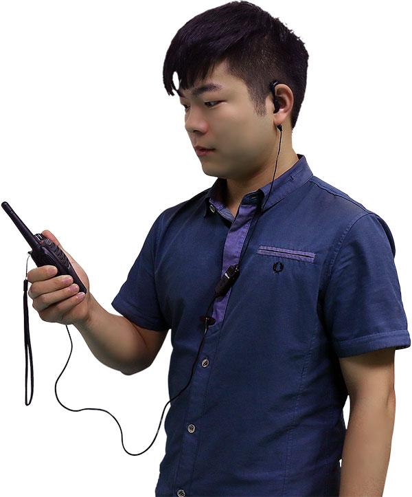 对讲机通话录音耳机