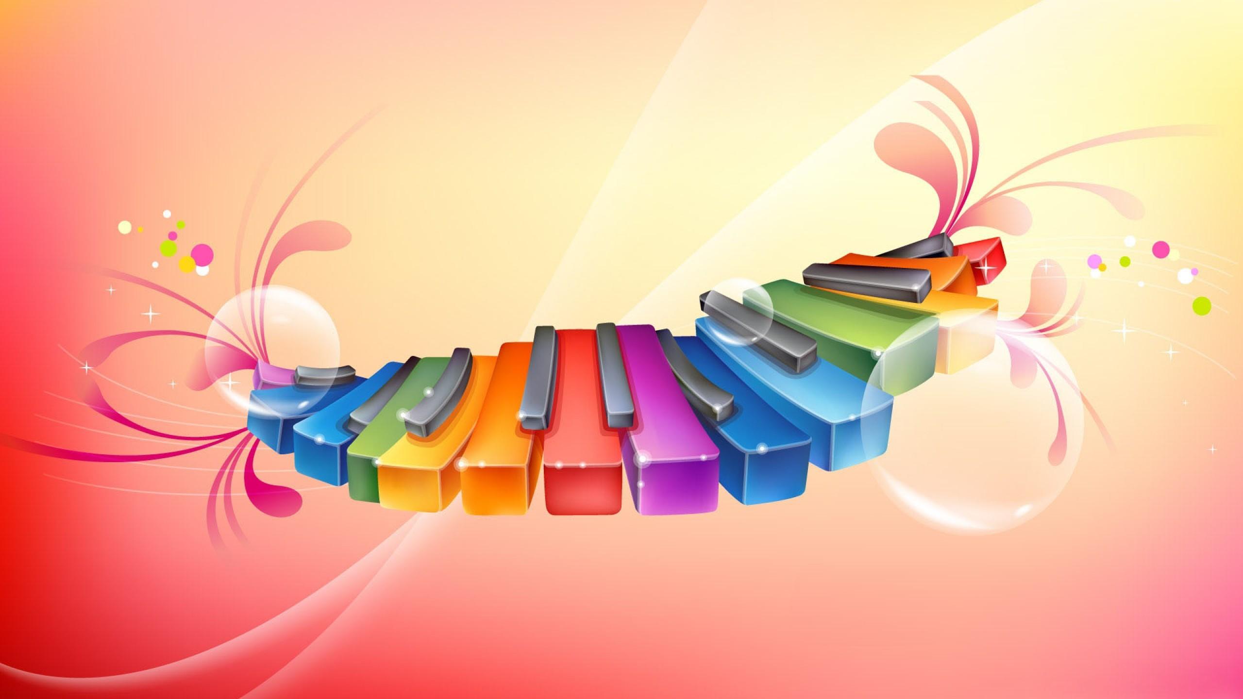 钢琴海报矢量图