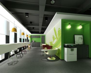 办公室茶水间应配备饮水机,冰箱,微波炉,咖啡机,橱柜等设备,以备企业