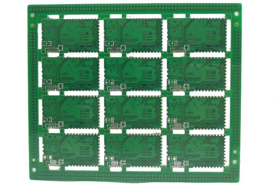 4层金属半孔喷锡电路板