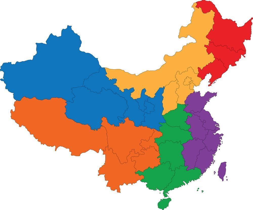 东北,华北,华东,中南,西南,西北各包括哪几个省(图5)