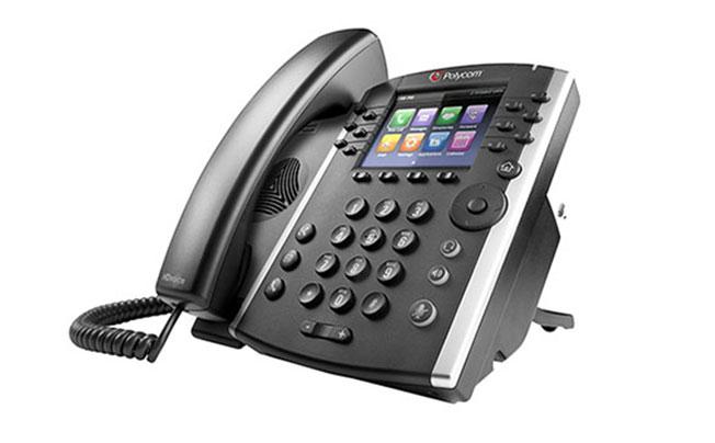 Polycom VVX 400 和 410(千兆以太网)商务多媒体电话