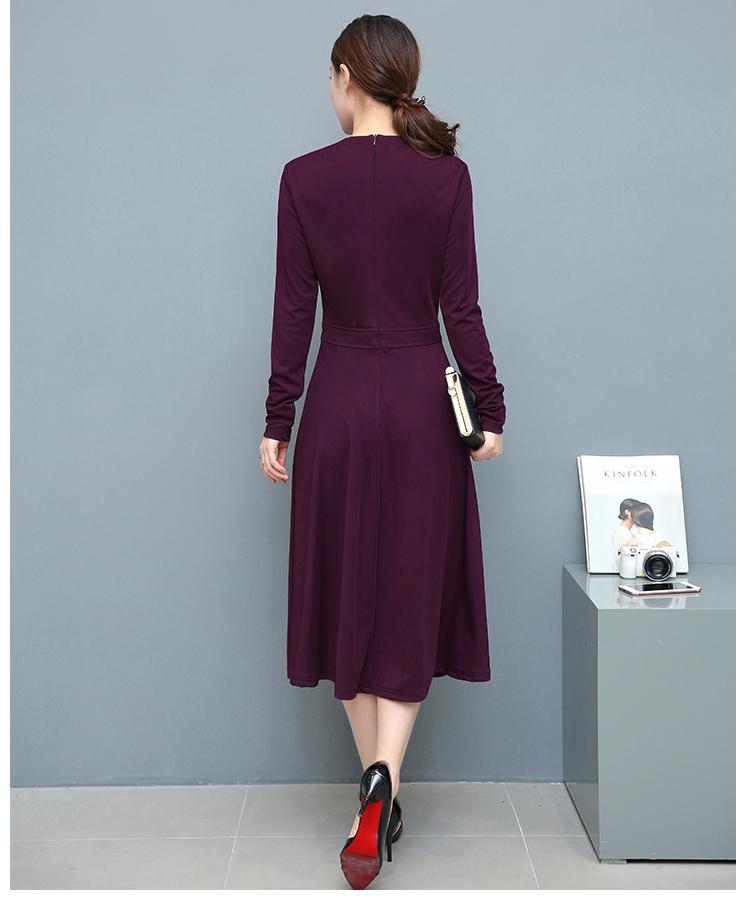 欧美优雅连衣裙