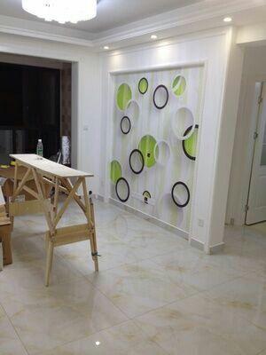 电视背景墙瓷砖铺贴方法及优点