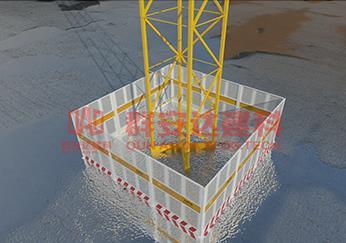 塔吊防护 说明:产品介绍1,此种塔吊防护棚采用冲孔钢板栏制作,结构