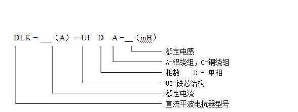 直流平波电抗器相关参数