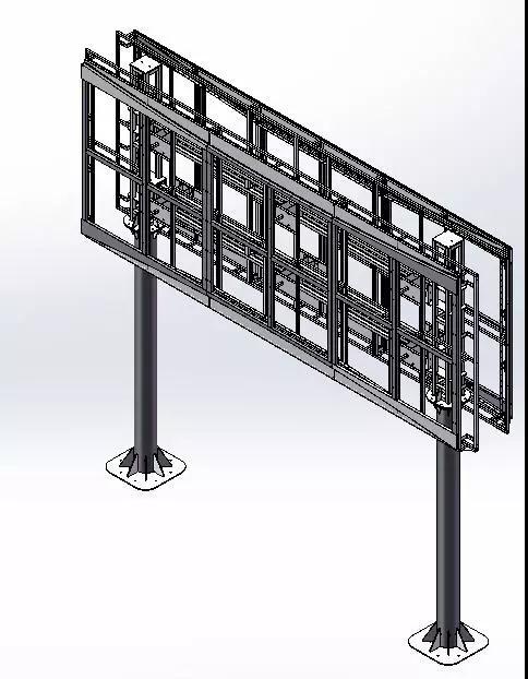 内部结构实为主体承重框架,整体较简单严谨,主体框架直接采用金属图片