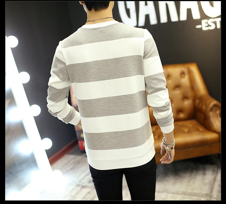 2017男装秋款新品男式百搭T恤长袖潮韩版上衣男士长袖圆领线衫#2