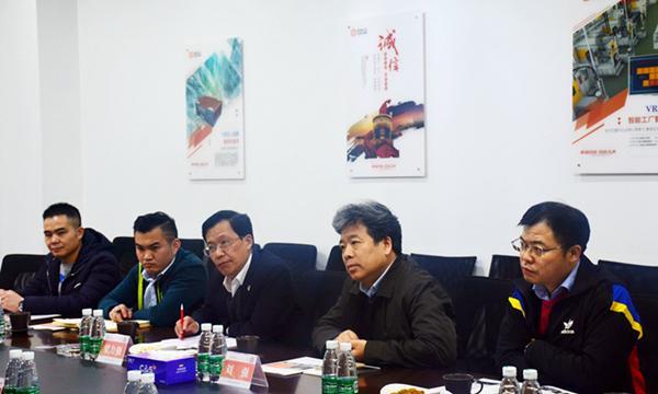 德国倍福(中国区)董事总经理梁力强一行赴华龙讯达参观考察