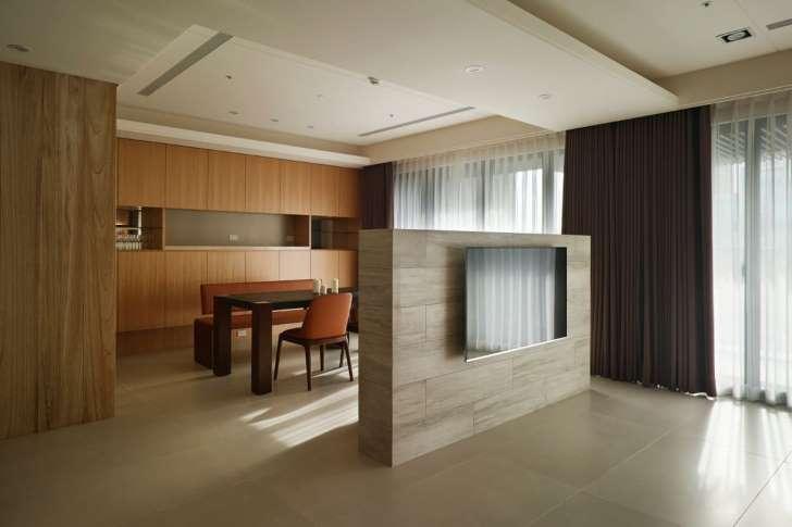 客厅隔断2,石材电视墙