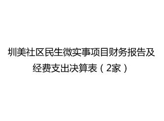 圳美社区民生微实事项目财务报告及经费支出决算表(2家)