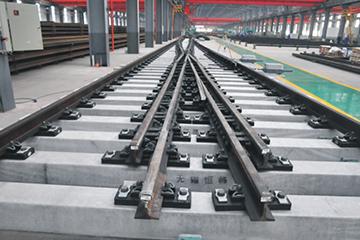 250公里客运专线铁路60kg每米钢轨12号单开道岔