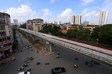 越南首条轻轨线路道岔