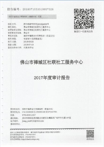 2017年财务审计报告