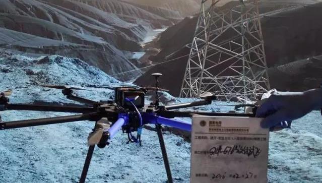 记架线无人机在西北某330kV线路工程中的应用手记
