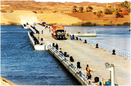 苏丹756米麦洛维浮桥(MEROWE BRIDGE)