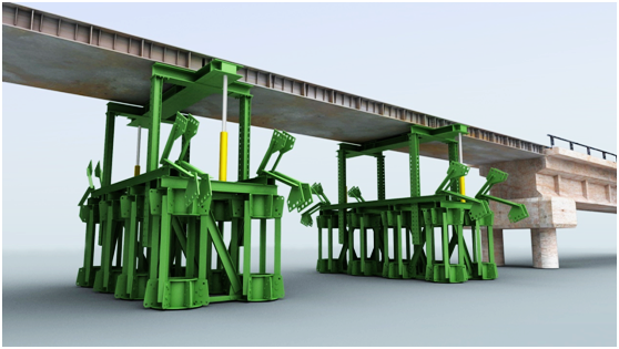 铁路桥梁抢修中墩