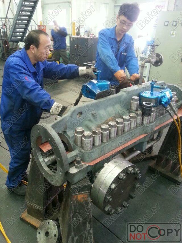 重型装备制造德国Baier液压扳手一拖二使用现场