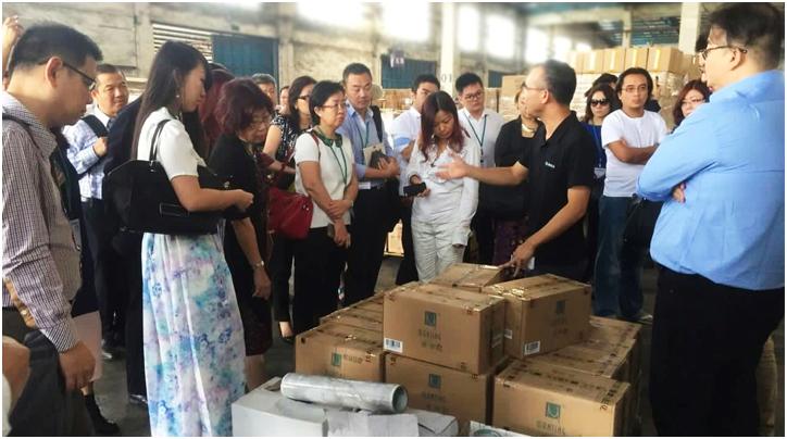 新加坡中华总商会代表团来海格物流考察
