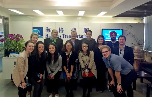 美国克瑞顿大学MBA师生来访海格物流