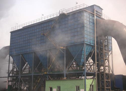天津乾坤钢铁10000m²低压脉冲布袋除尘器