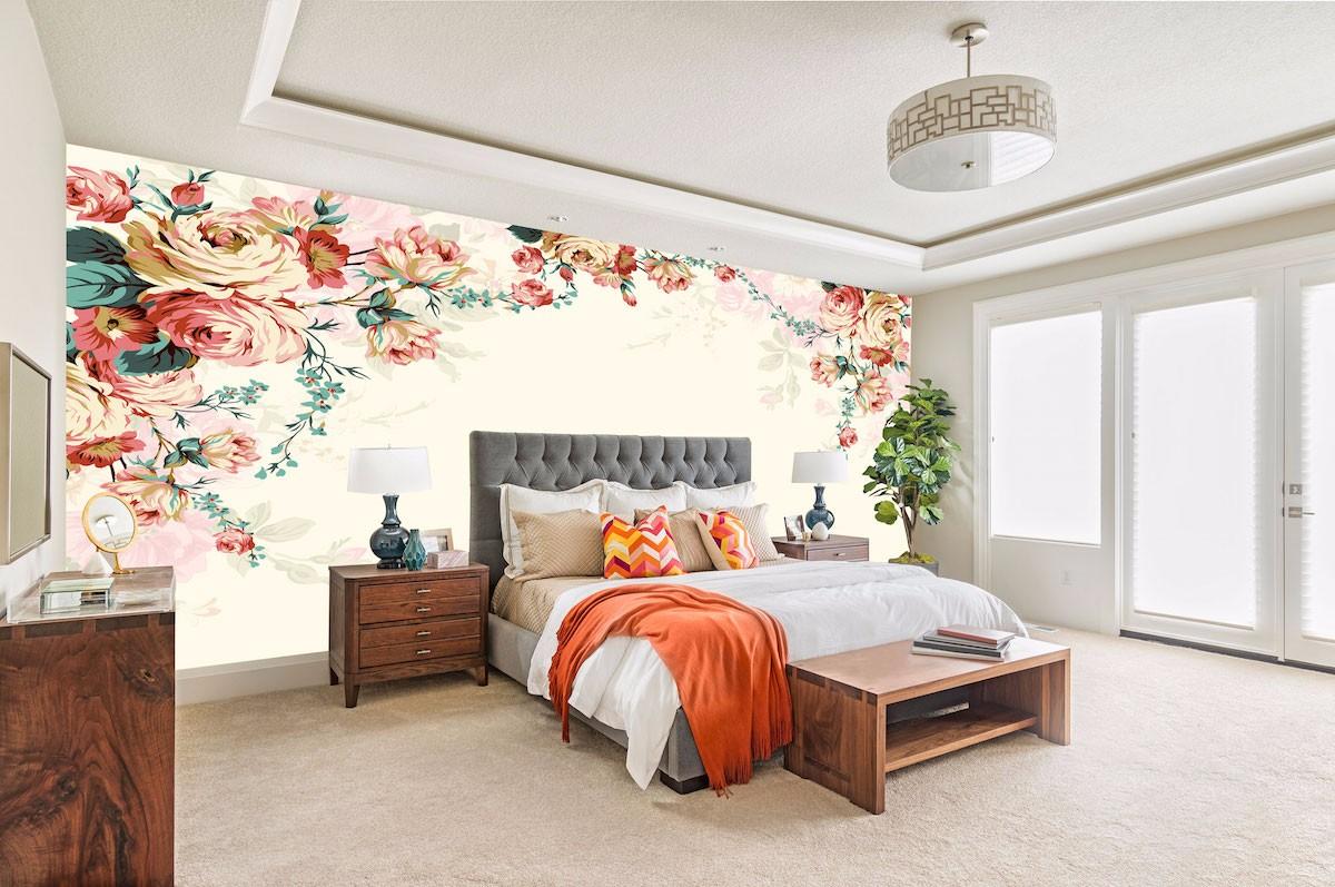 复古花卉壁画FG08