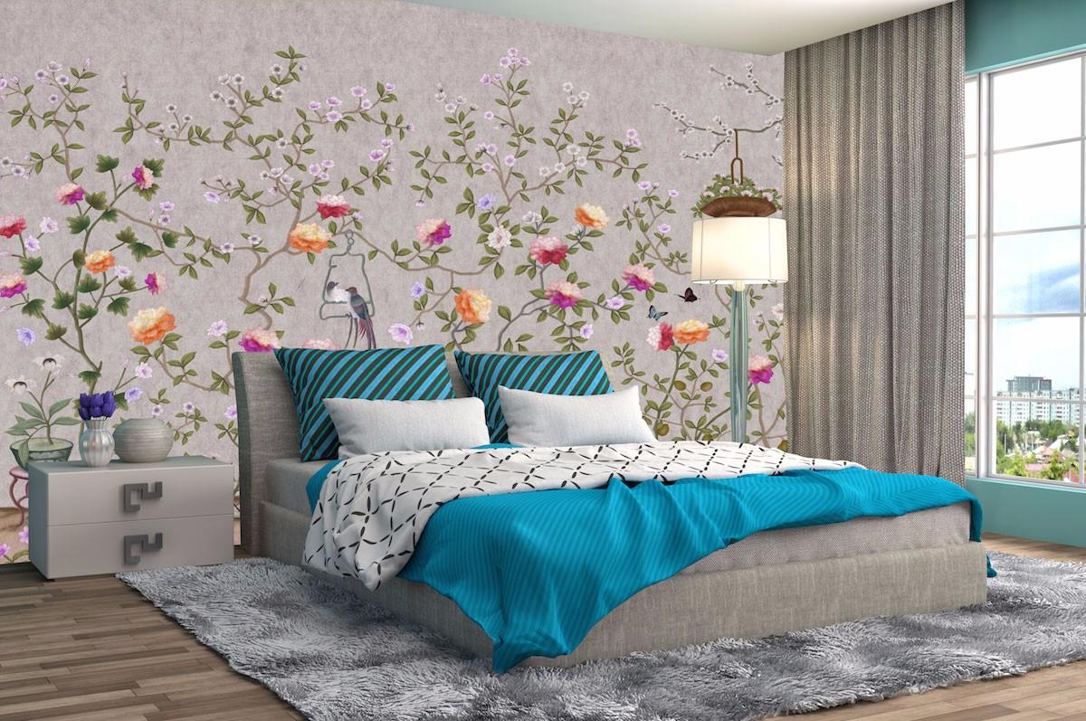 酒店床头背景墙壁画JD50