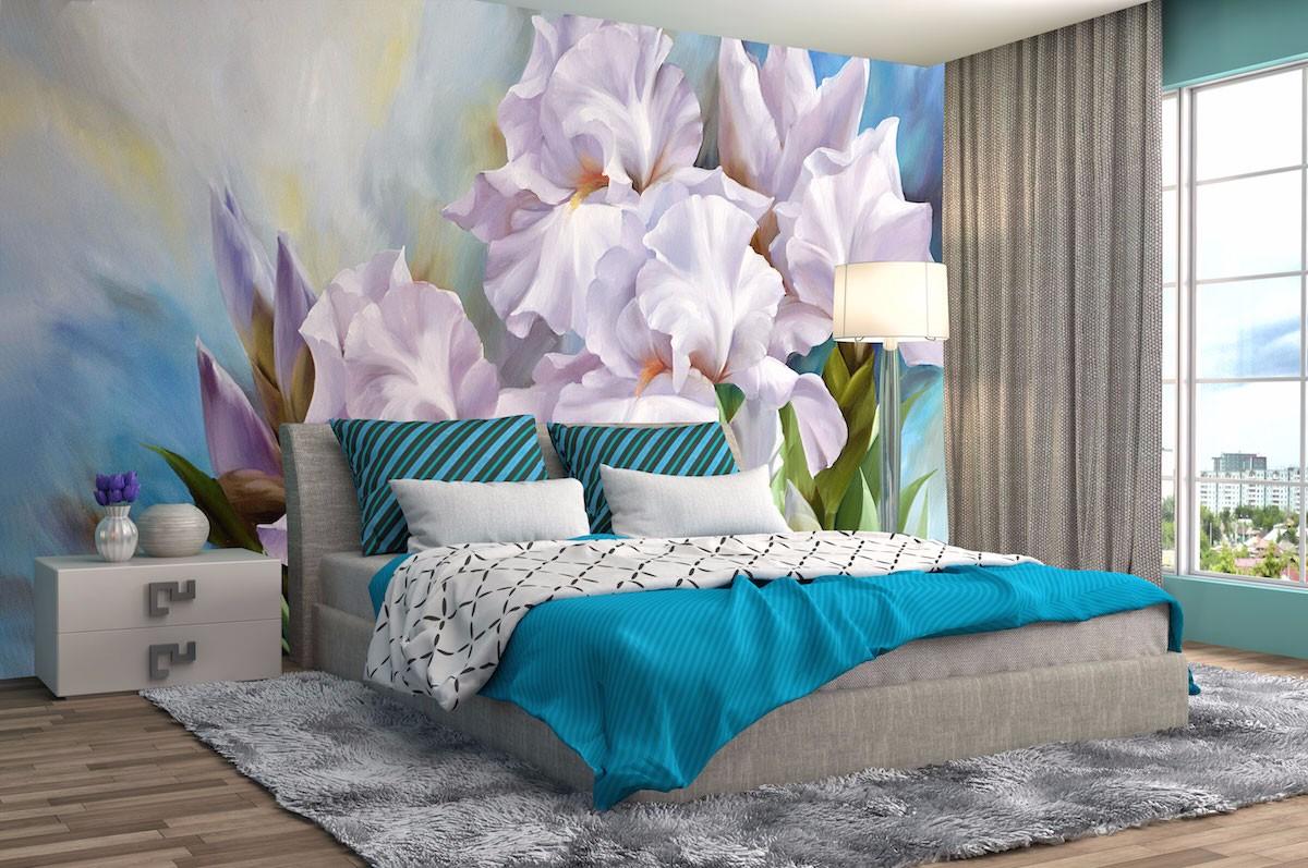 酒店床头背景墙壁画JD56