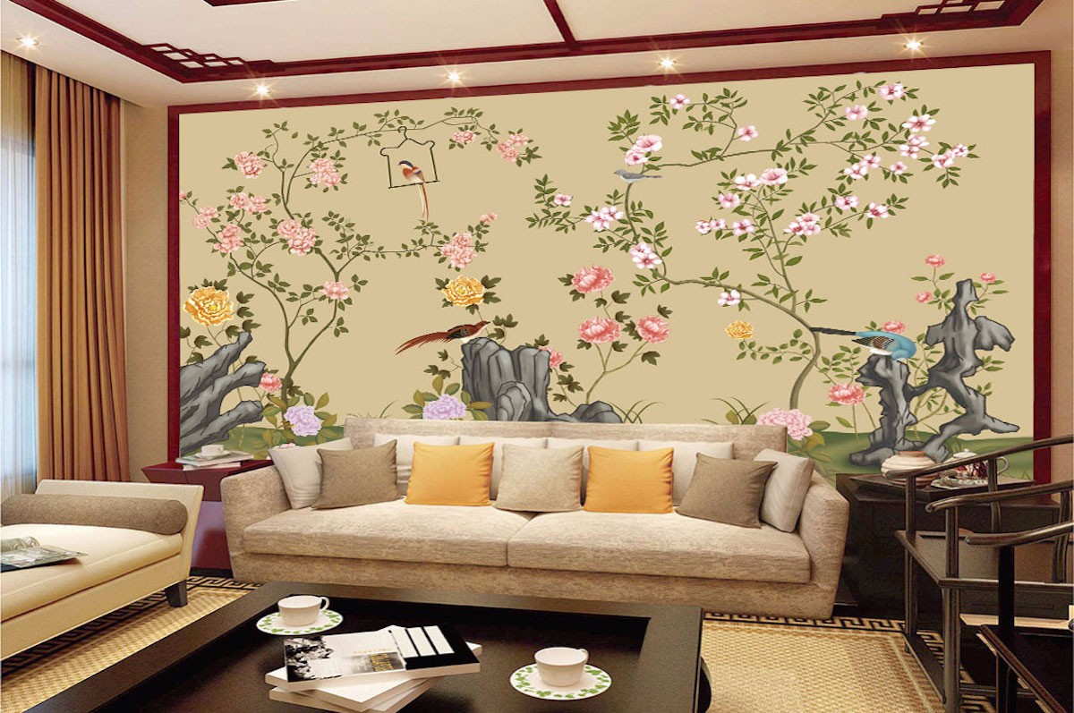 工笔花鸟壁画GB25