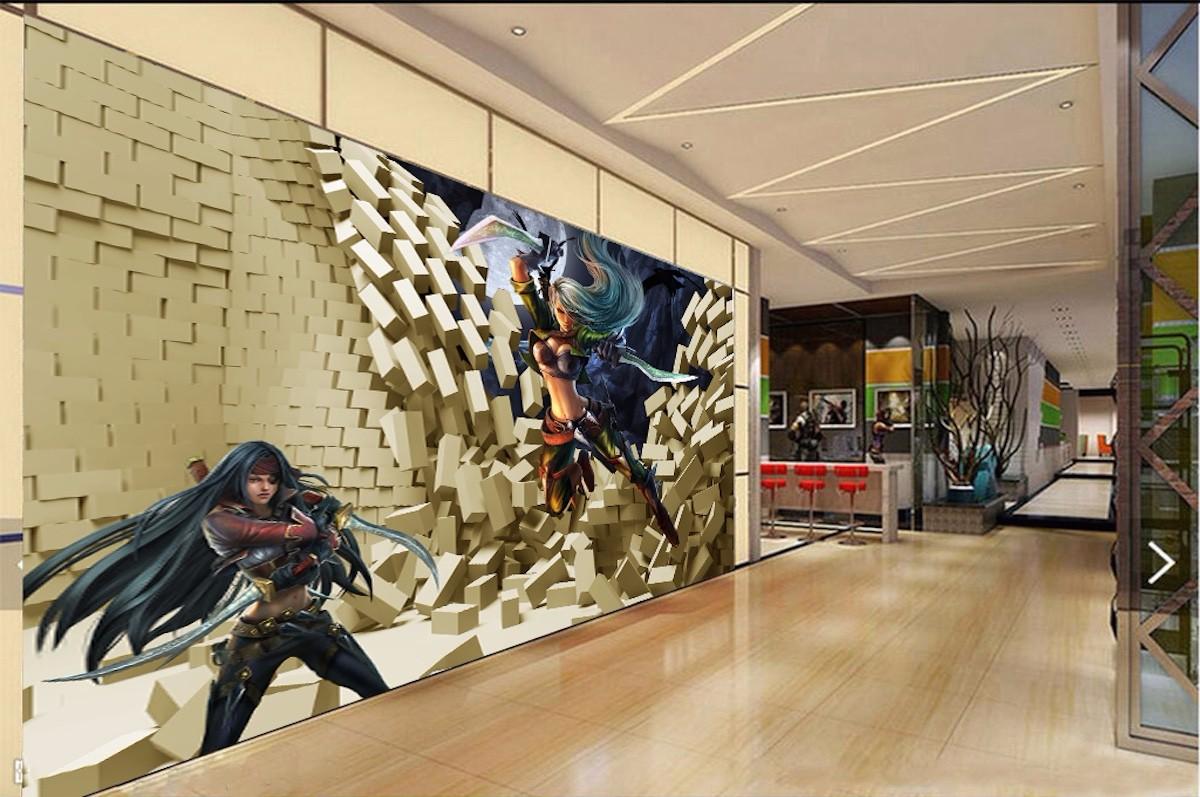 网咖壁画WK18