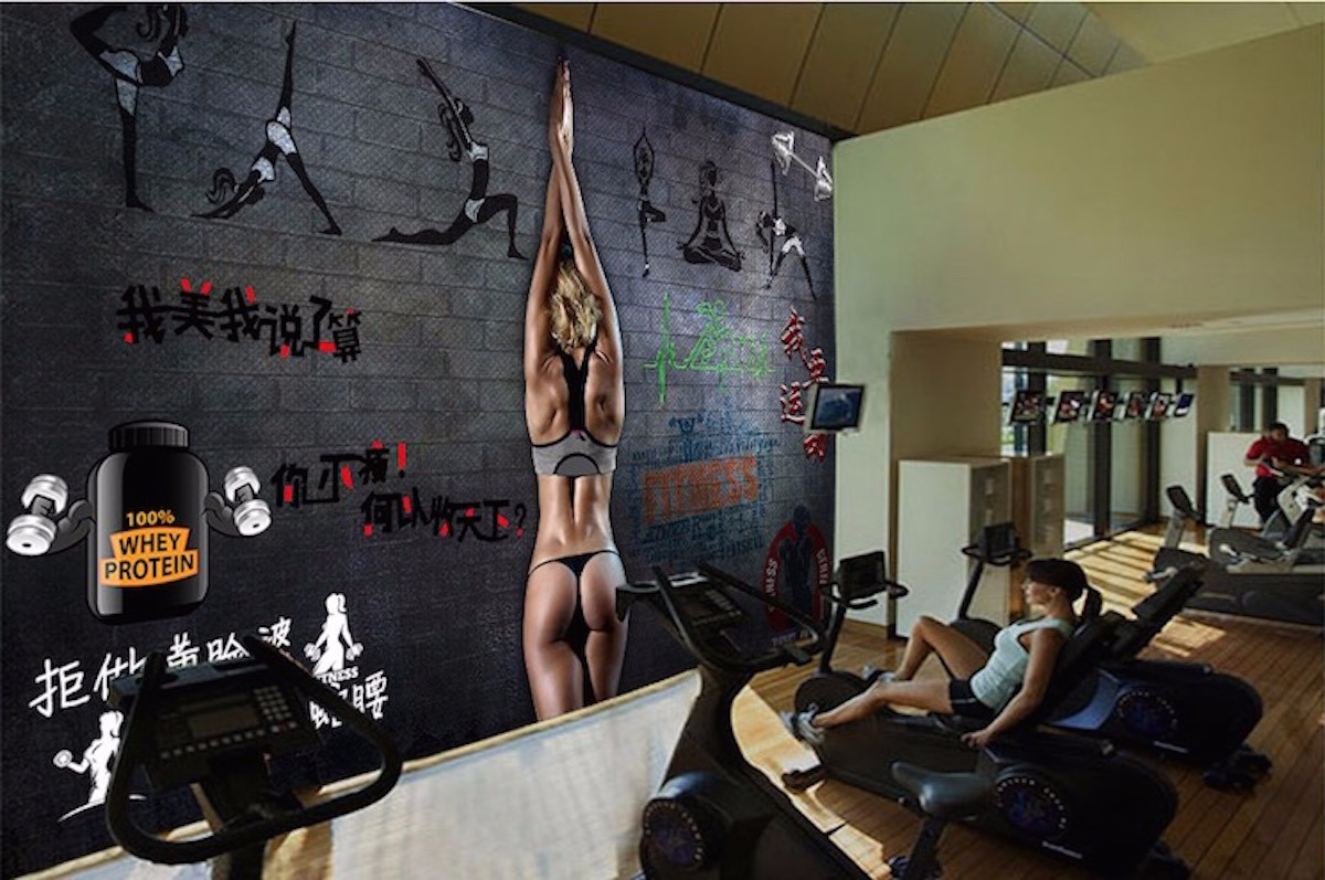健身房壁画JS10