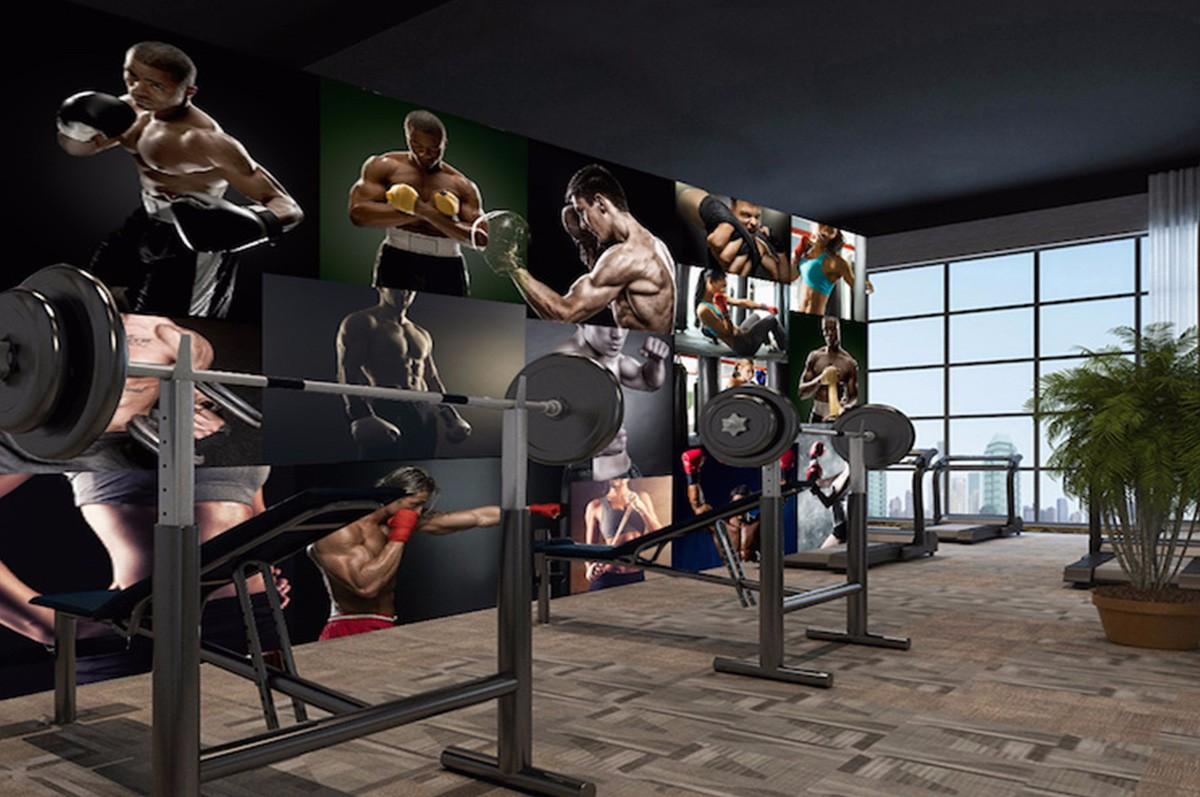 健身房壁画JS13