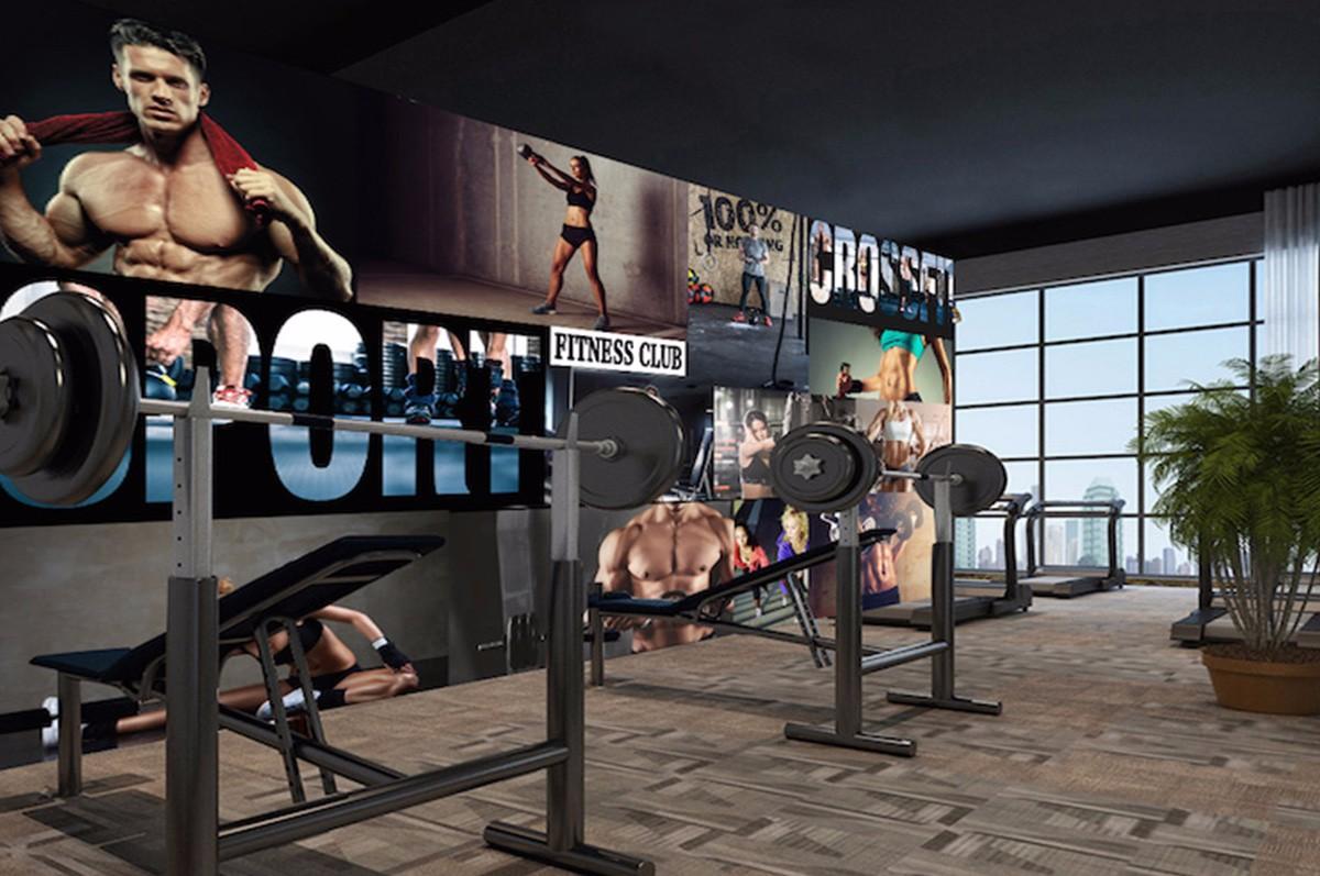 健身房壁画JS15
