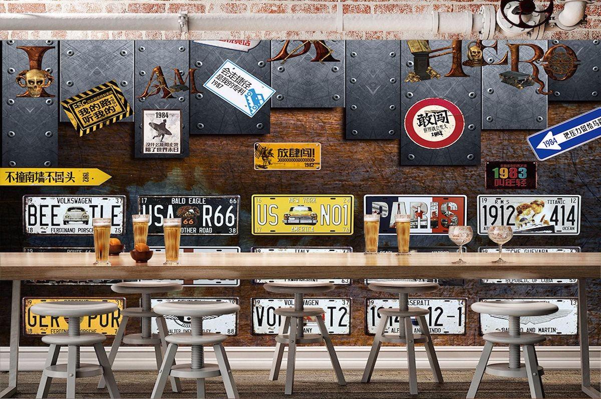 酒吧主题壁画JB055