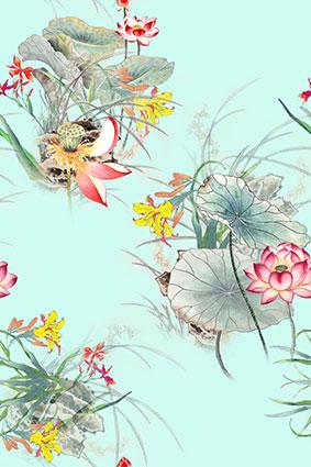 淡雅端庄柔和花卉