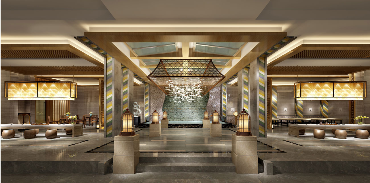 西安龙泉酒店桑拿浴场-会所设计
