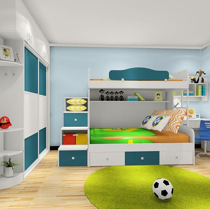 男孩儿童房上下床设计效果图