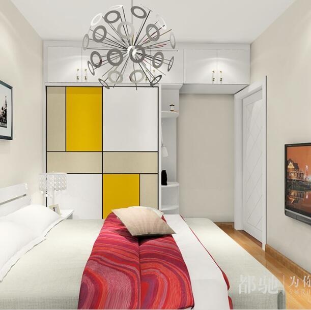 现代简约卧室衣柜 阳台柜效果图